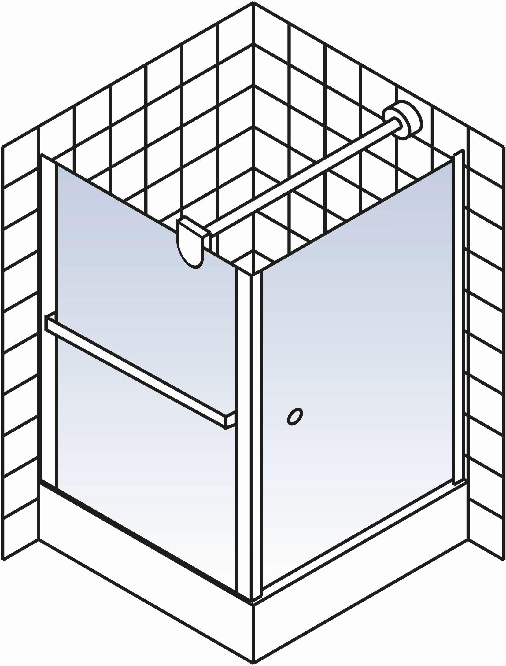 schulte garant dreht r porta mit seitenwand inkl handtuchhalter echtglas d8020x d8150x. Black Bedroom Furniture Sets. Home Design Ideas