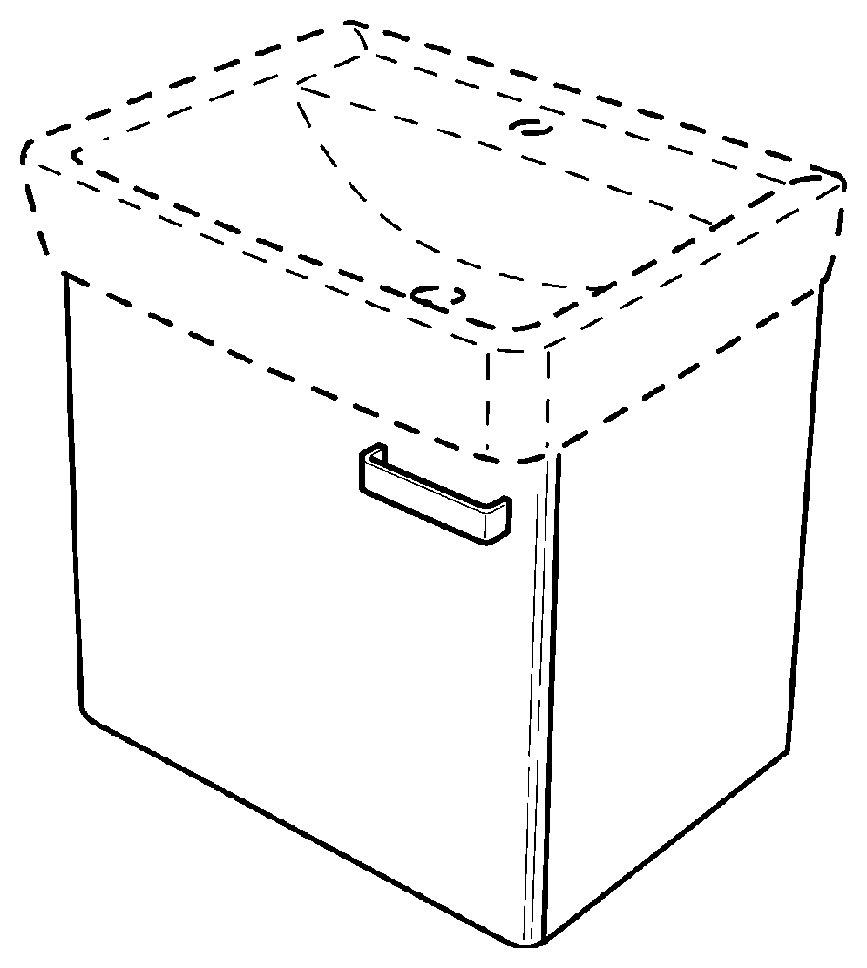 keramag renova nr 1 plan handwaschbecken unterschrank 879354 410x463x340mm korpus wei. Black Bedroom Furniture Sets. Home Design Ideas