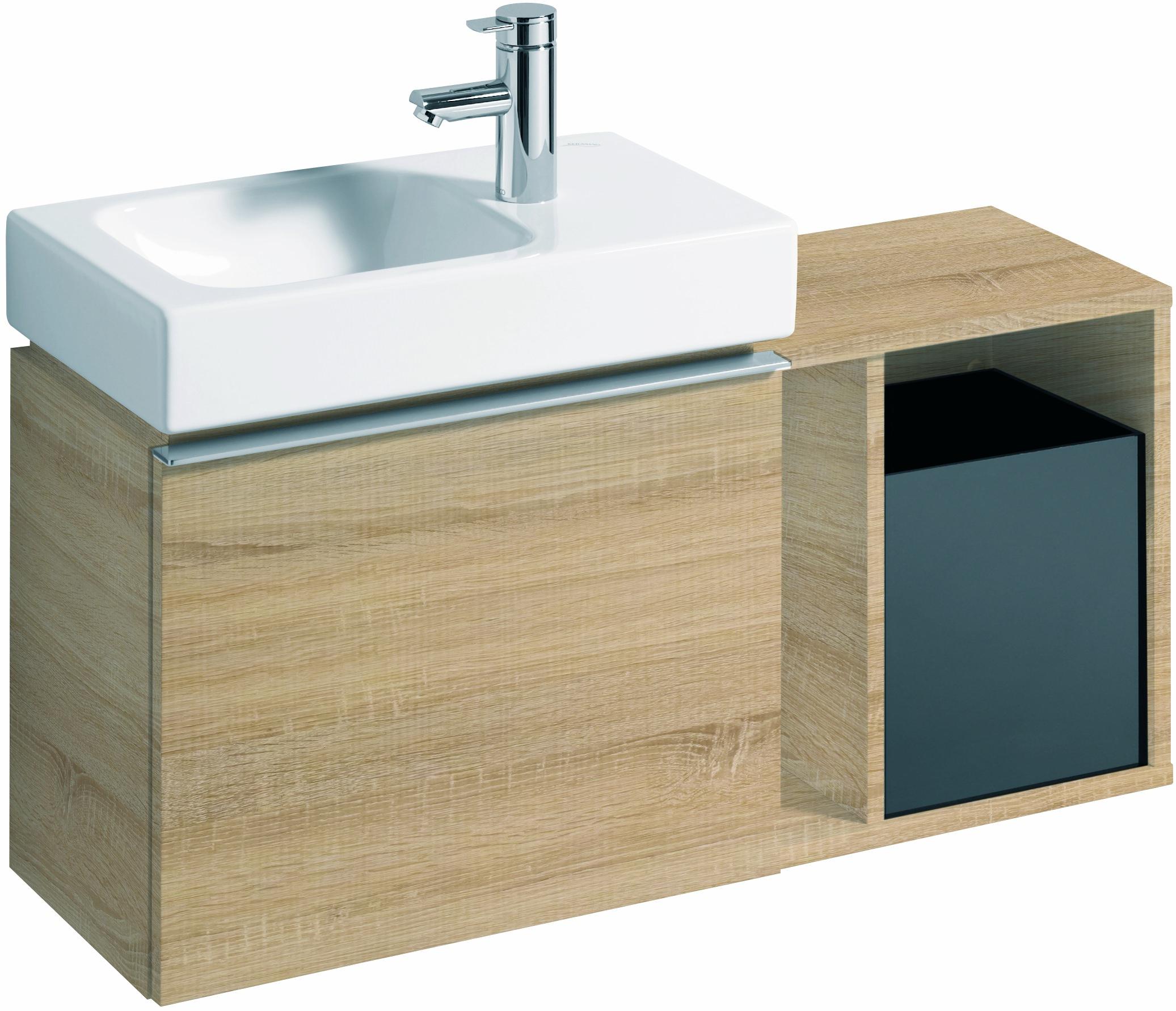 keramag icon xs seitenelement 370x400x273mm holzstruktur eiche natur 841239000. Black Bedroom Furniture Sets. Home Design Ideas