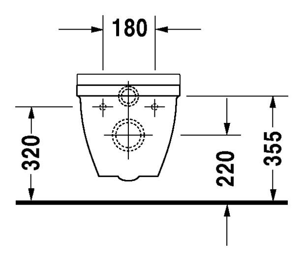 duravit starck 3 wand wc vital 360 x 700 mm tiefsp ler barrierefrei wei wondergliss. Black Bedroom Furniture Sets. Home Design Ideas