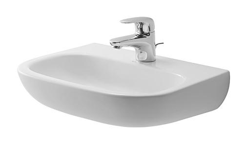 duravit d code handwaschbecken med 450 x 340 mm ohne hahnloch und berlauf wei 0707450070. Black Bedroom Furniture Sets. Home Design Ideas