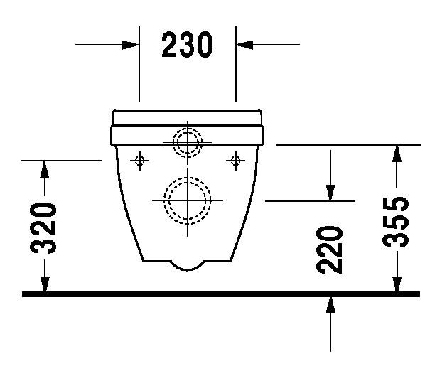 duravit starck 3 wand wc 360 x 545 mm tiefsp ler wei wondergliss 22060900001. Black Bedroom Furniture Sets. Home Design Ideas