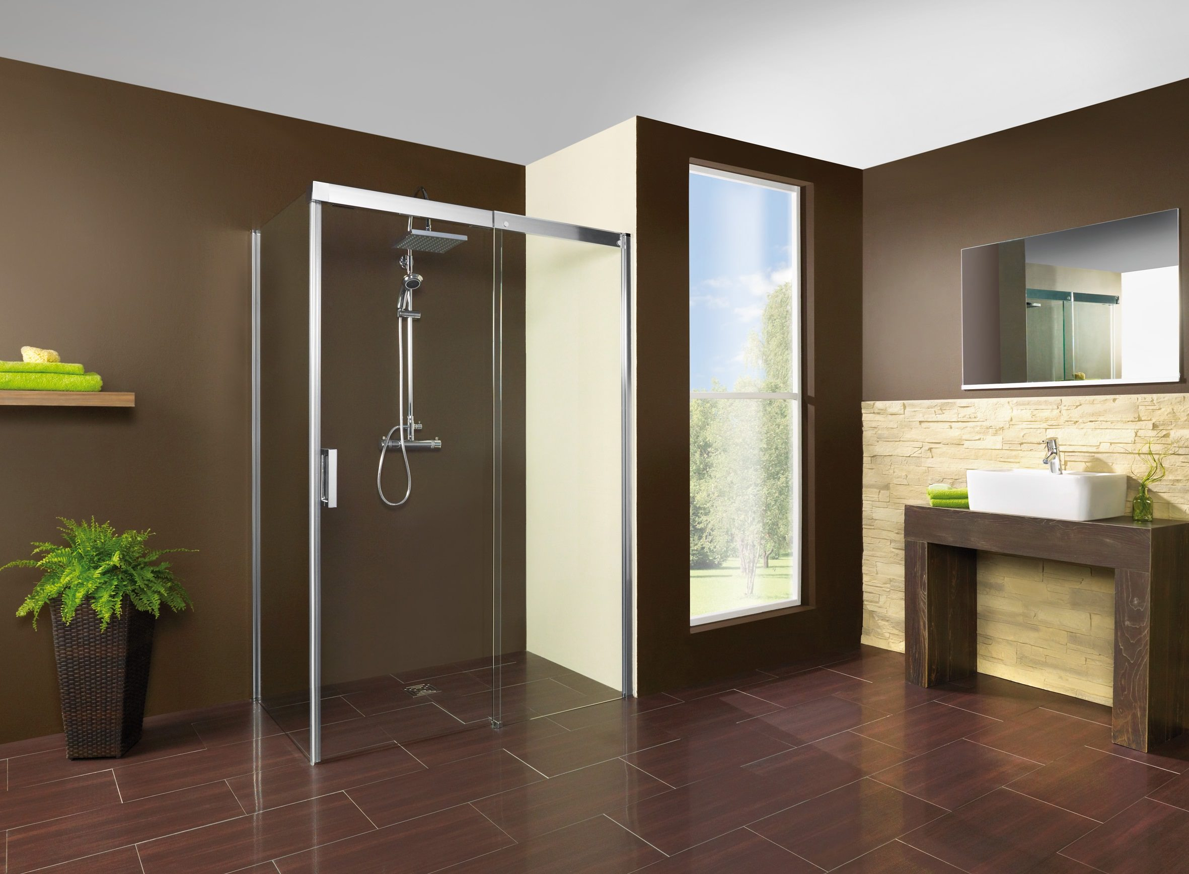breuer panorama soft silent schiebet r f r seitenwand grau get nt alu chromeffekt 140cm. Black Bedroom Furniture Sets. Home Design Ideas
