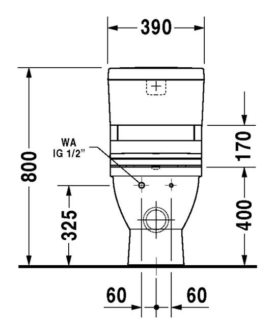 duravit starck 3 stand wc kombination 370 x 705 mm tiefsp ler mit abgang vario nur f r sensowash. Black Bedroom Furniture Sets. Home Design Ideas