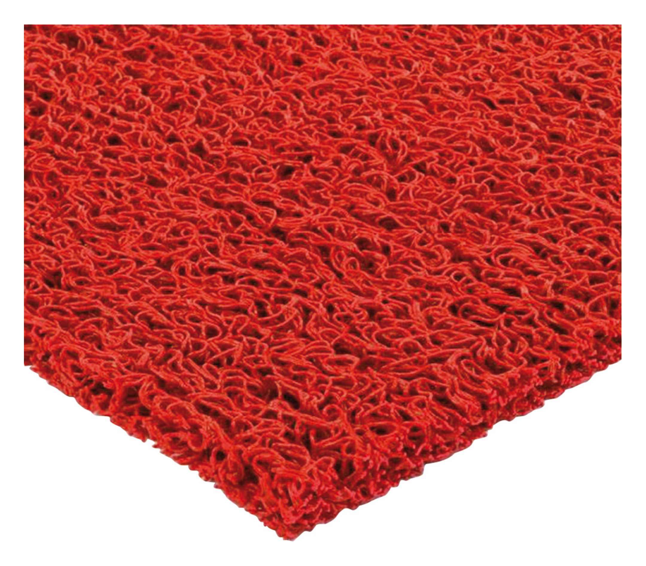 Spaghetti-Fußmatte 14mm 1,2 x 12m rot