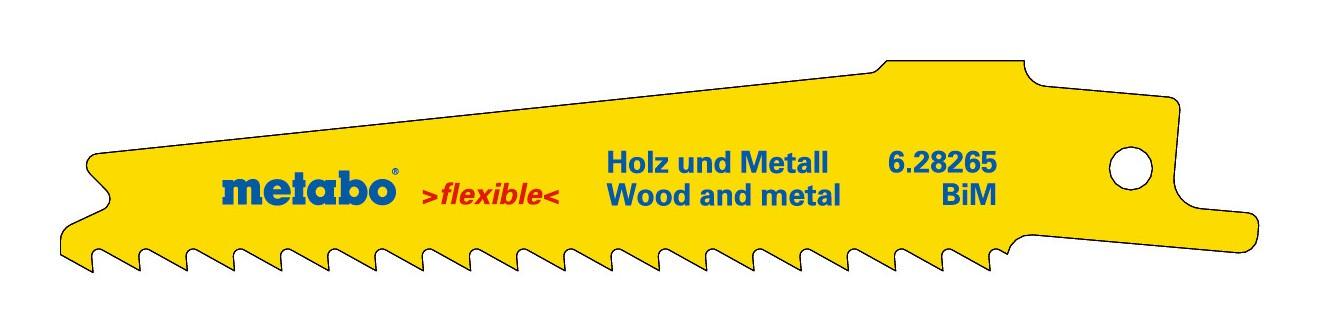 "Metabo 5 Säbelsägeblätter 150x1,6 mm Metall Serie /""professional/"" 2,5+3, BiM"
