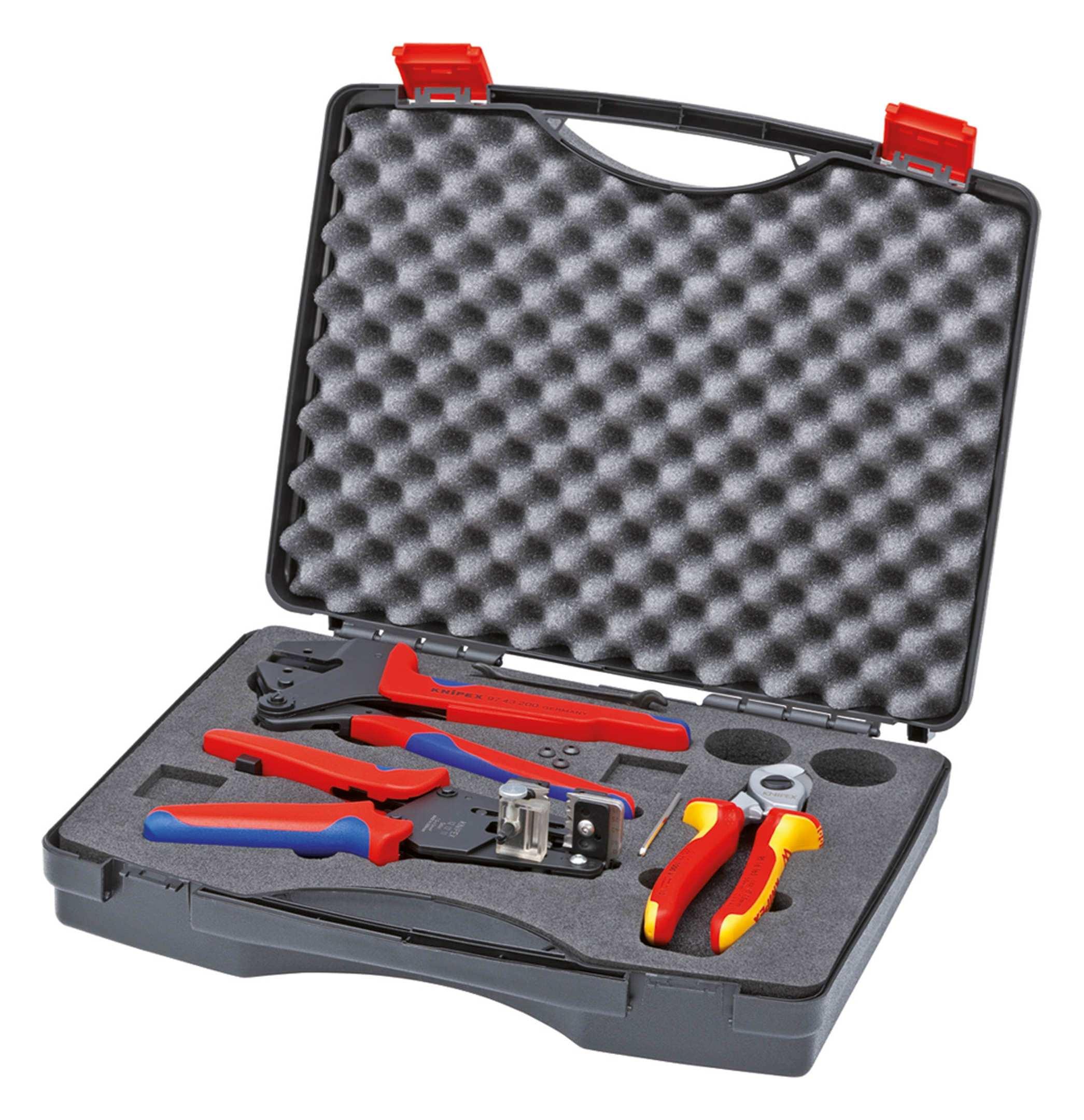 Knipex Werkzeugkoffer 3tlg. für Photovoltaik - 97 91 01