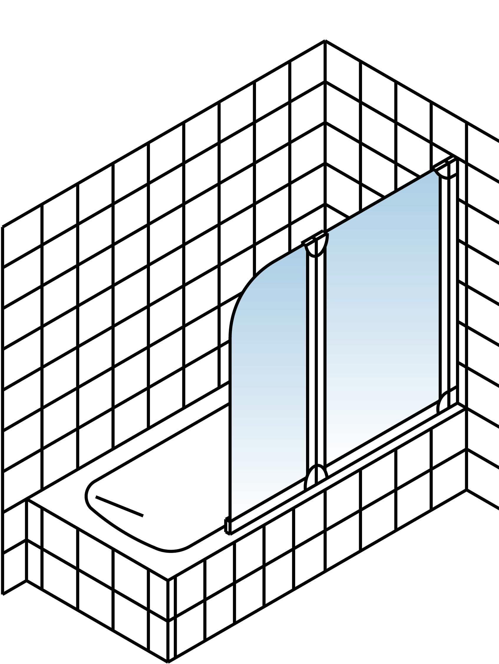 schulte komfort badewannenfaltwand 2 teilig querstreifen. Black Bedroom Furniture Sets. Home Design Ideas