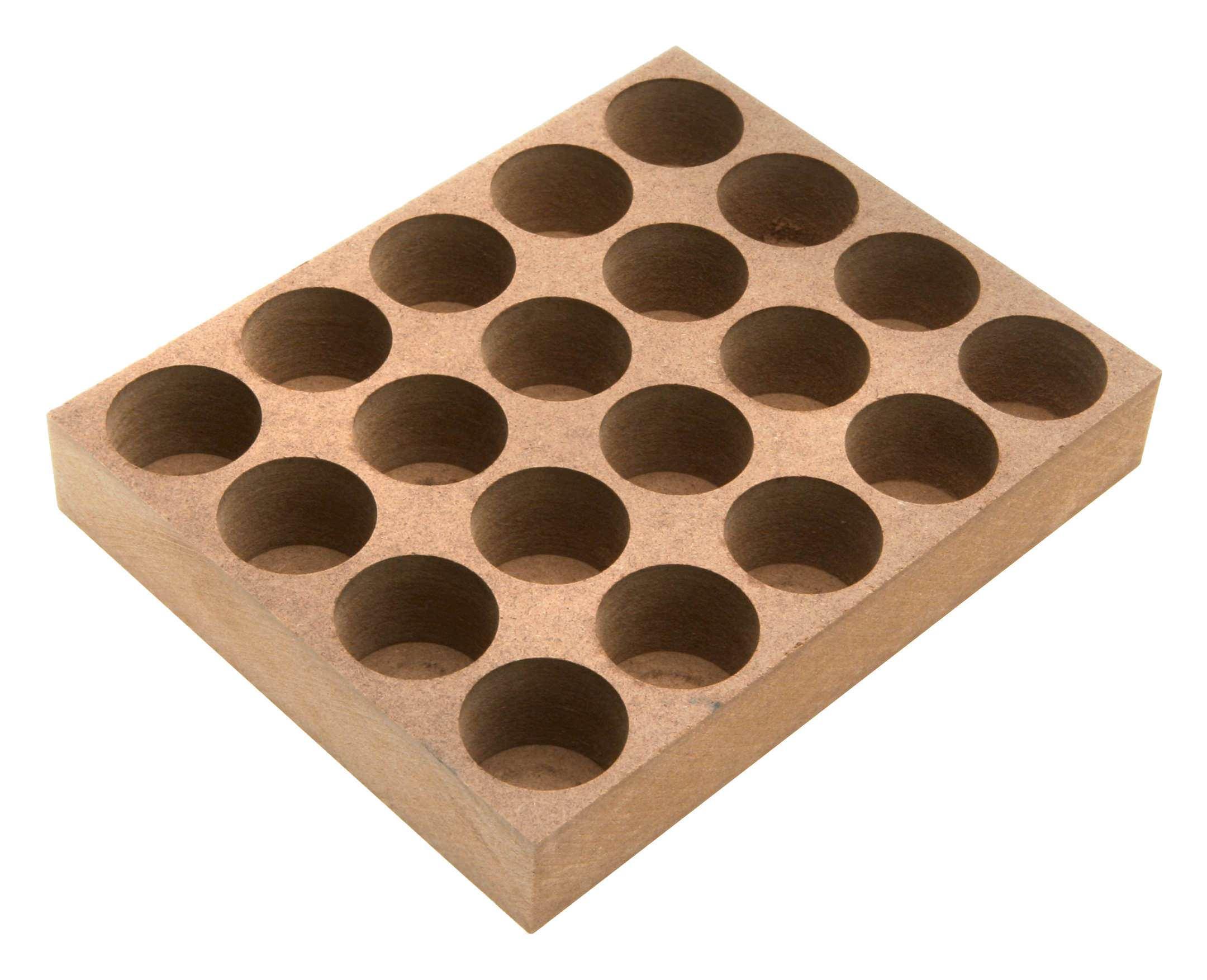 Holzsockel für ER25 15 Bohrungen