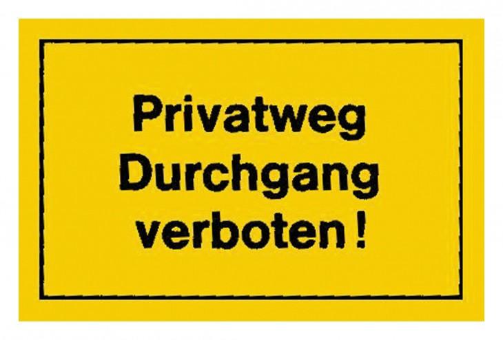 Werkstatt 2017 Foto Verbotsschilder-Privatweg-Durchgang-verbo