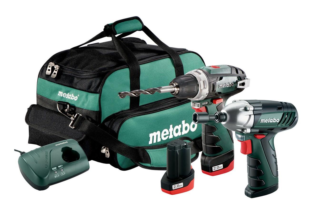 metabo combo set 2 3 10 8 v akku bohrschrauber und akku schlagschrauber akkuset in der. Black Bedroom Furniture Sets. Home Design Ideas