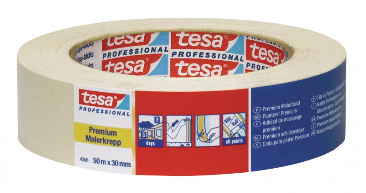 Tesa 2019 Freisteller Klebeband-hellbeige-4306-50mx50mm