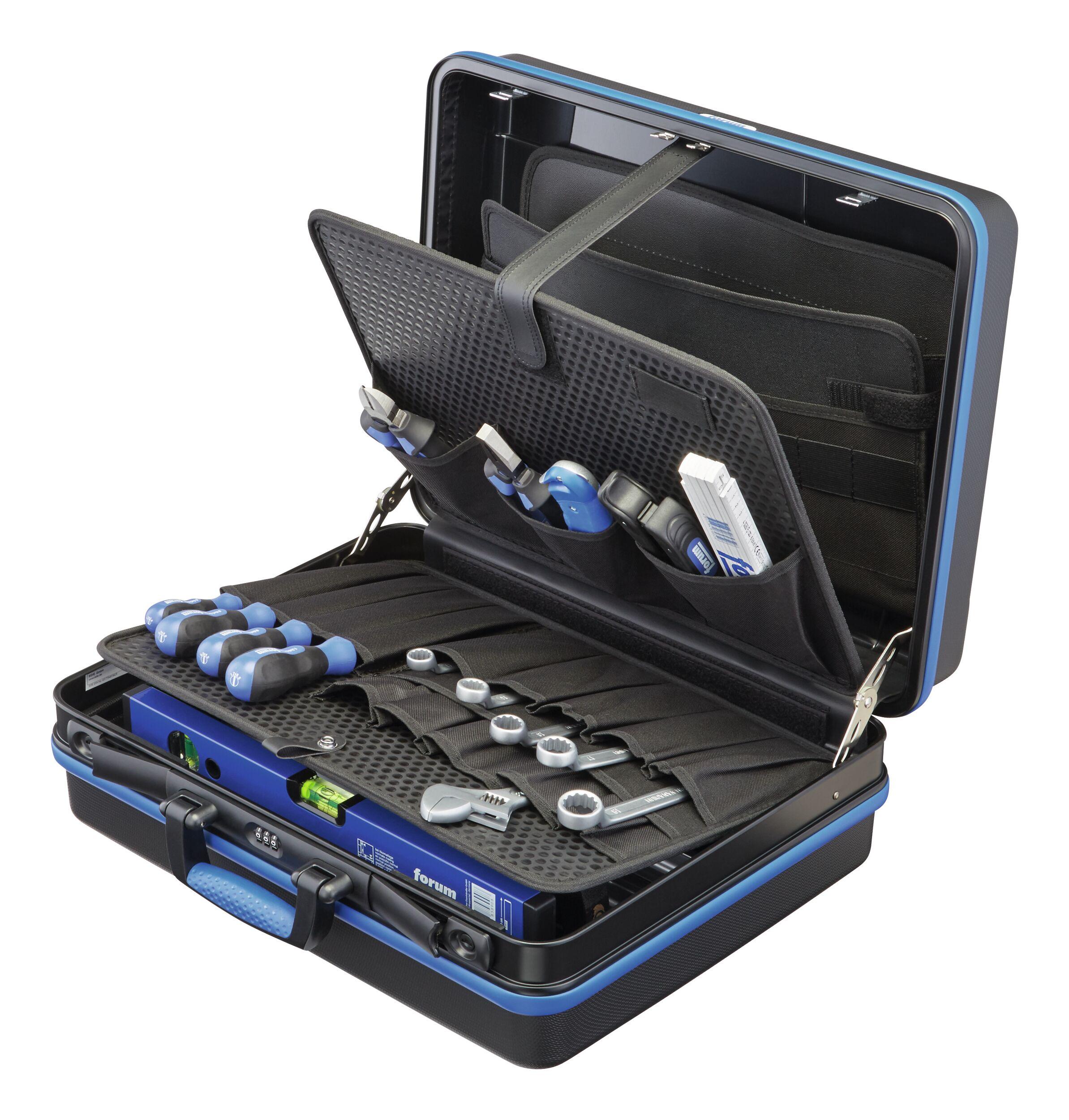 Werkzeugkoffer ABS 455 x 160 x 345 mm mit Einsteckfächern