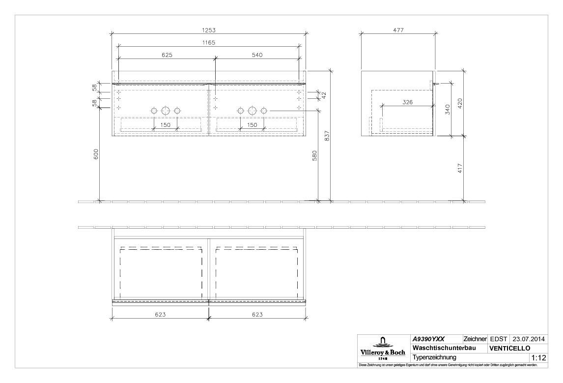 villeroy boch venticello waschtischunterschrank 1253 x. Black Bedroom Furniture Sets. Home Design Ideas