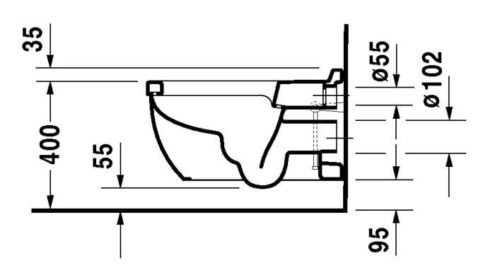 duravit starck 3 wand wc 360 x 620 mm tiefsp ler mit durafix nur f r sensowash wei 2226590000. Black Bedroom Furniture Sets. Home Design Ideas
