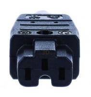Bachmann Anbaugerätestecker Kunststoff IP20 gerade schwarz Schraubklemme 918.170
