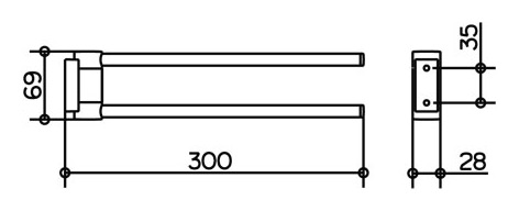 keuco plan handtuchhalter 300 mm verchromt 14919010000. Black Bedroom Furniture Sets. Home Design Ideas