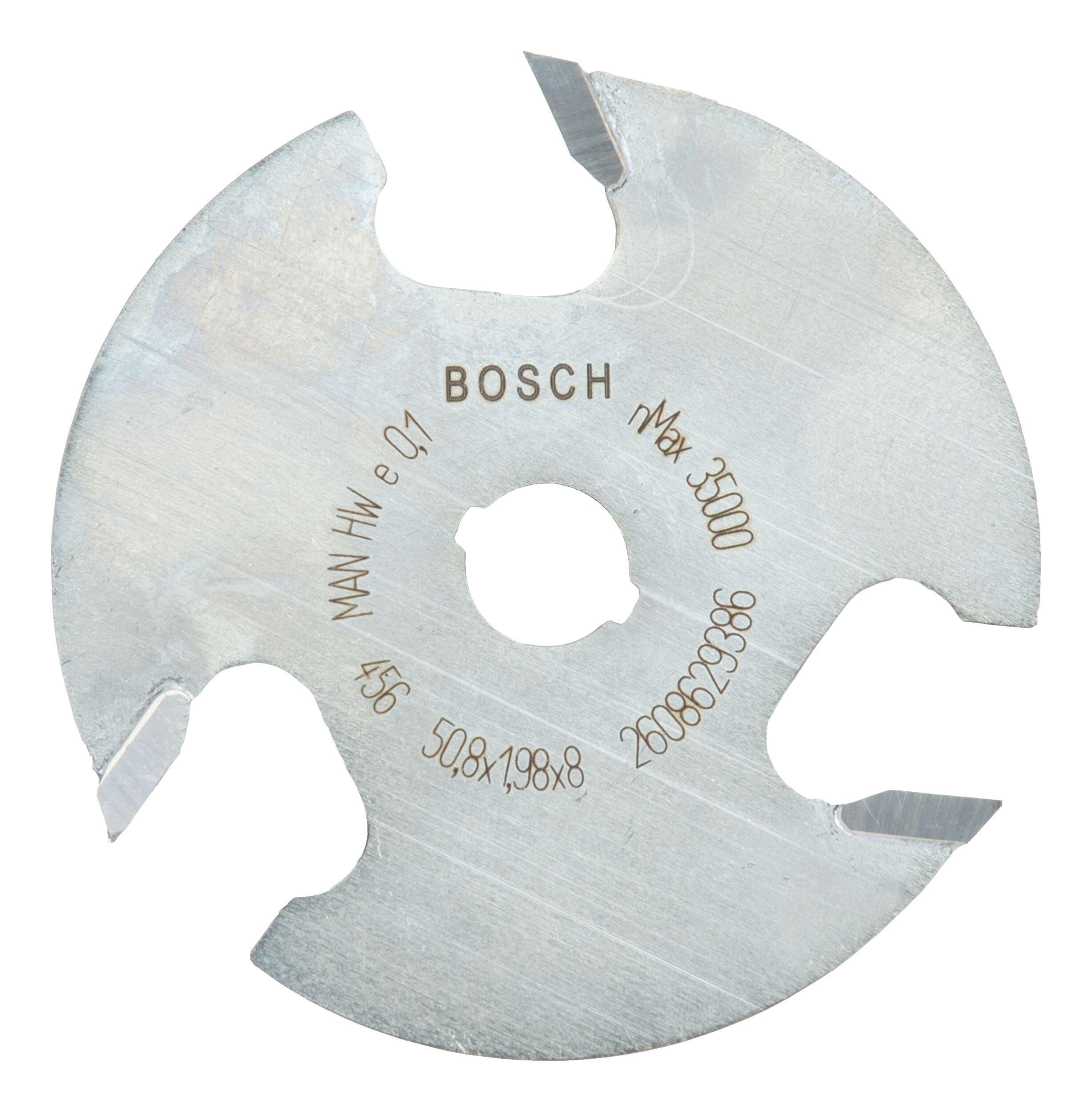 Bosch Zubehör Scheibennutfräser dreischneidig - 50,8 x 2 x 8 x 8 mm - 2608629386