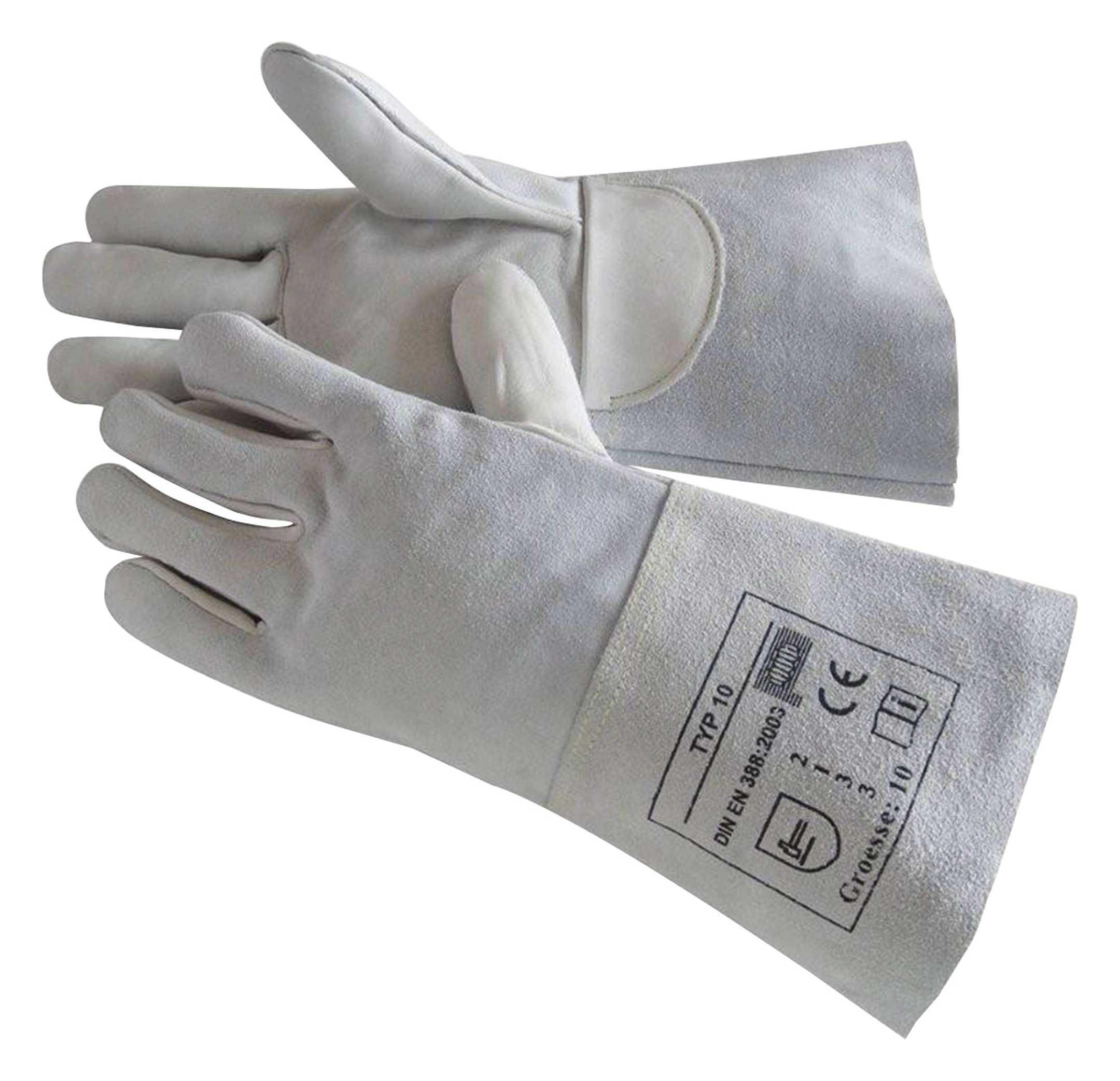 """10 Paar Schweißerhandschuhe /""""MAX/"""" Größe 11 aus Spaltleder #"""