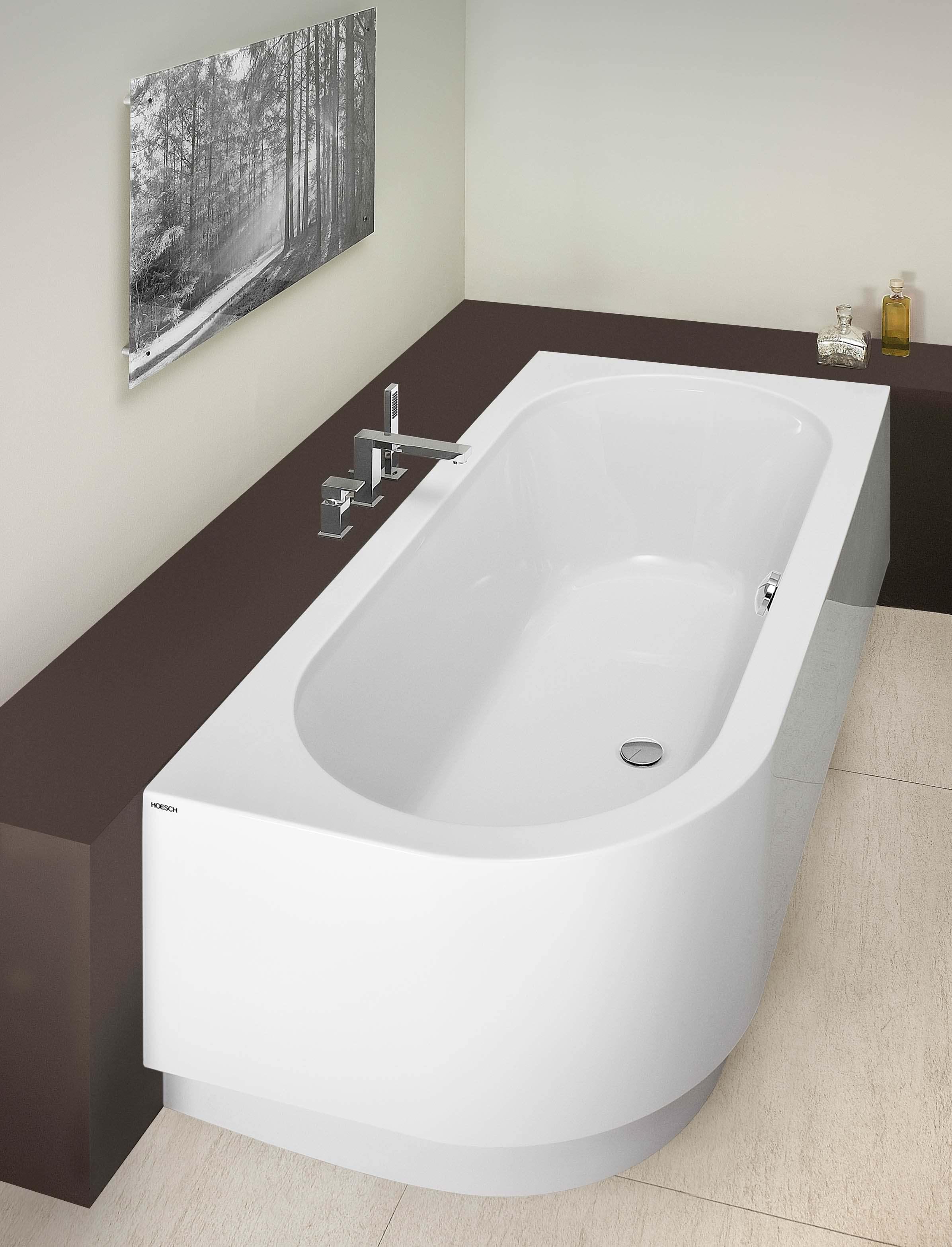 hoesch happy d eckbadewanne 1808 x 808 mm rechts mit. Black Bedroom Furniture Sets. Home Design Ideas