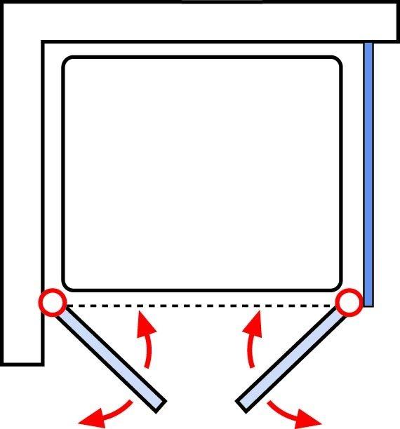 schulte sunny pendelt r 2 teilig mit seitenwand echtglas. Black Bedroom Furniture Sets. Home Design Ideas