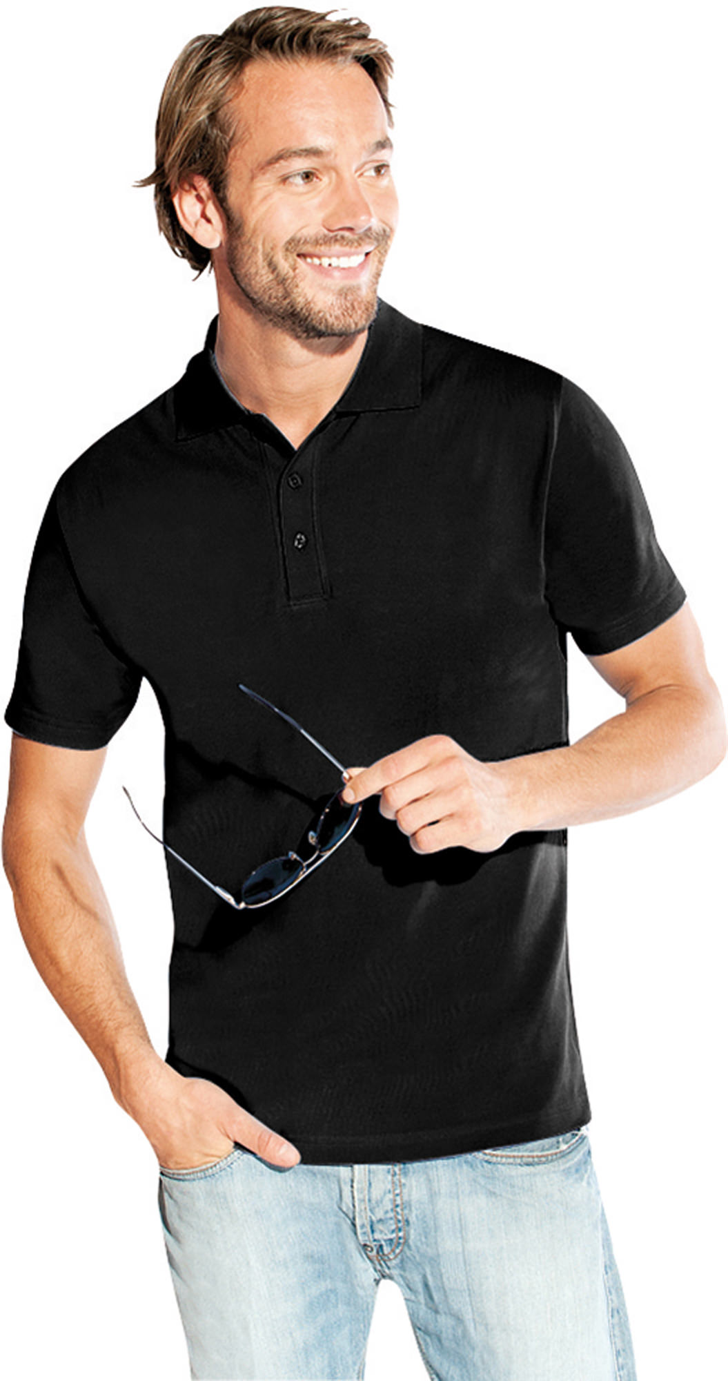 Poloshirt Größe XL schwarz - 4001F-9D-XL