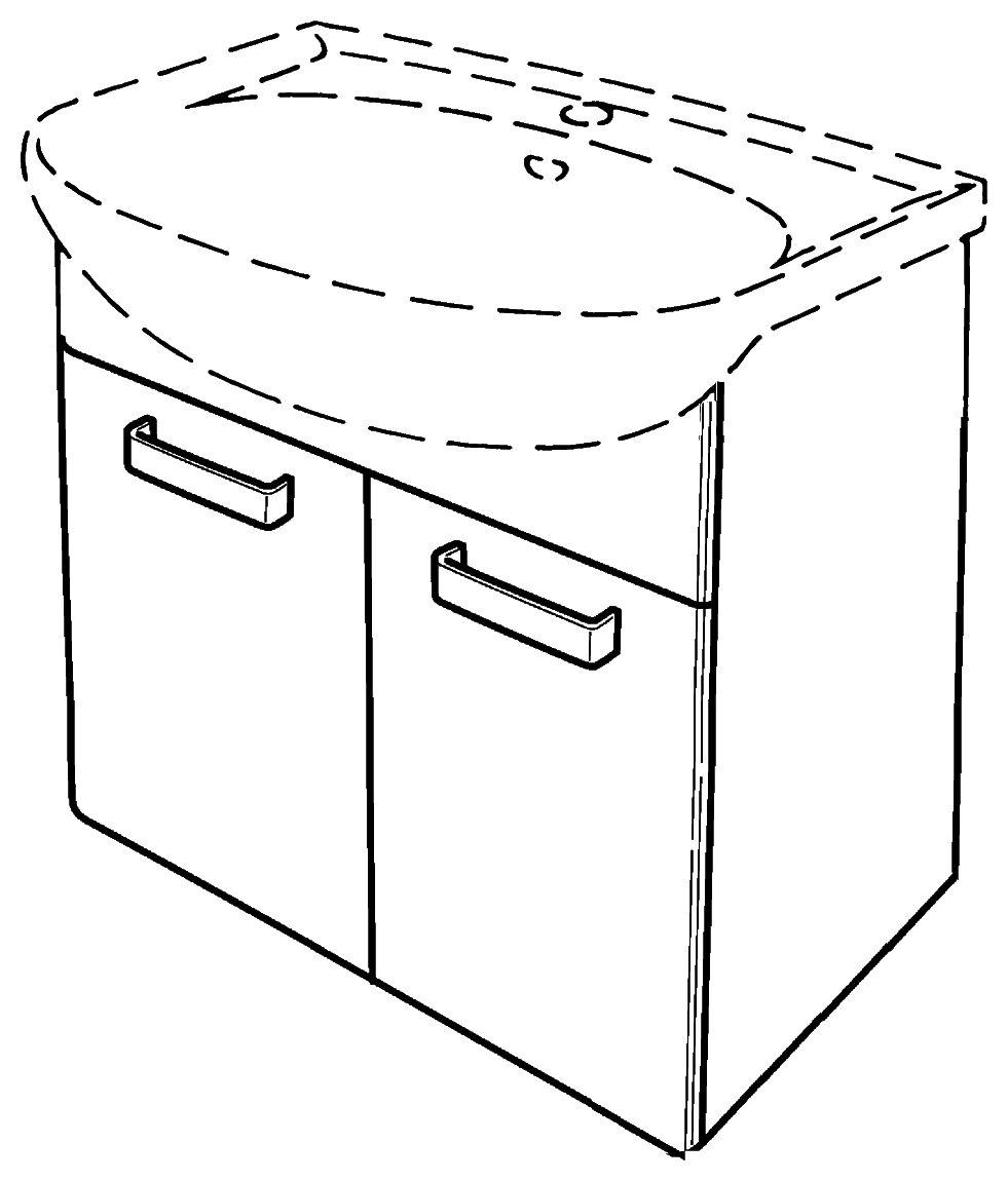keramag renova nr 1 waschtischunterschrank 880067 600x590x310mm korpus wei front wenge. Black Bedroom Furniture Sets. Home Design Ideas