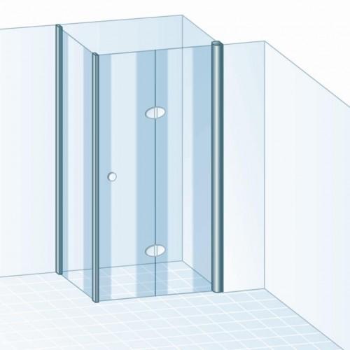 schulte garant drehfaltt r 2 teilig mit seitenwand. Black Bedroom Furniture Sets. Home Design Ideas