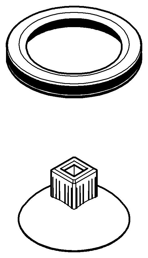 grohe veris kappe f r bidet waschtischbatterie chrom. Black Bedroom Furniture Sets. Home Design Ideas