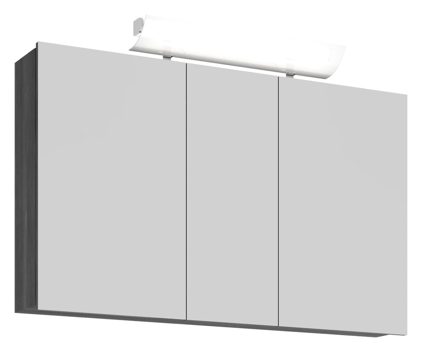 Scanbad rumba komplettset 120cm mit spiegelschrank pine grey ru 157734 - Scanbad spiegelschrank ...