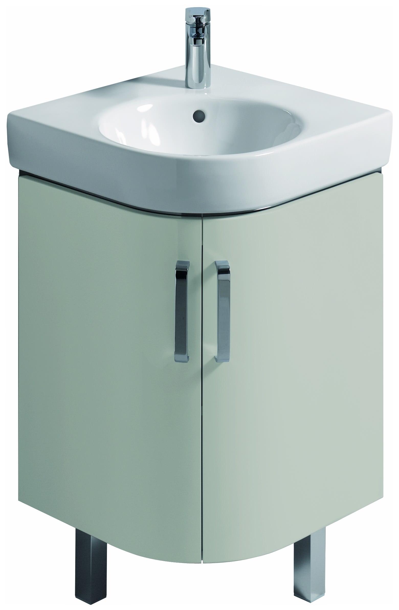 Keramag Renova Nr1 Comprimo Eck Handwaschbecken Unterschrank