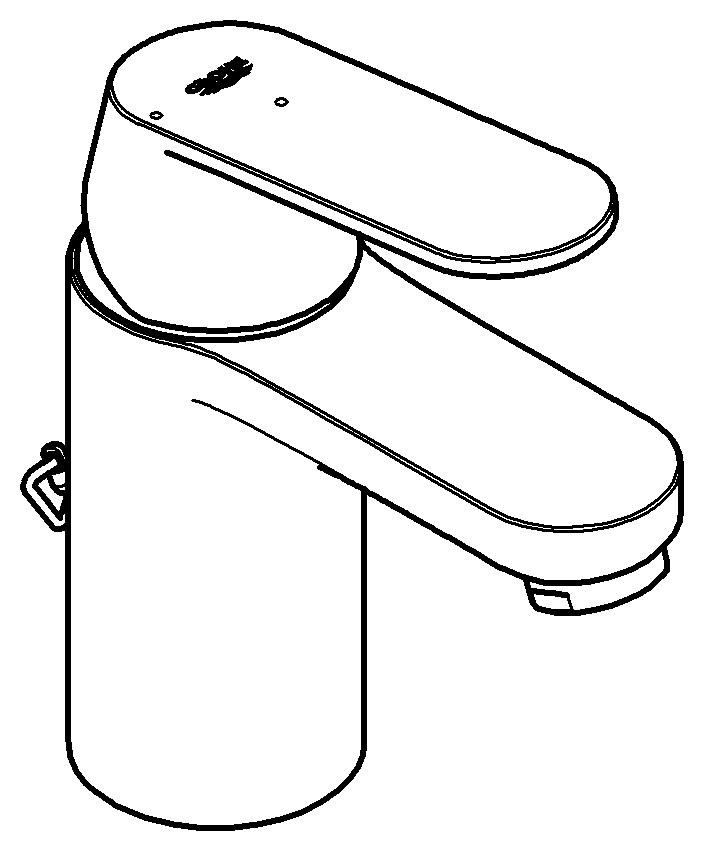 grohe eurosmart cosmopolitan einhand waschtischbatterie versenkbare kette ecojoy chrom 2337800e. Black Bedroom Furniture Sets. Home Design Ideas