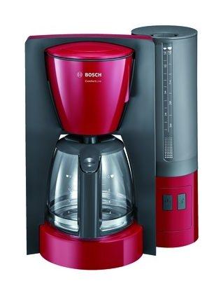 bosch kaffeemaschine 15 tassen anthrazit rot glaskanne. Black Bedroom Furniture Sets. Home Design Ideas