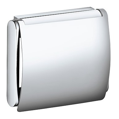 keuco plan toilettenpapierhalter mit deckel edelstahl finish 14960070000. Black Bedroom Furniture Sets. Home Design Ideas