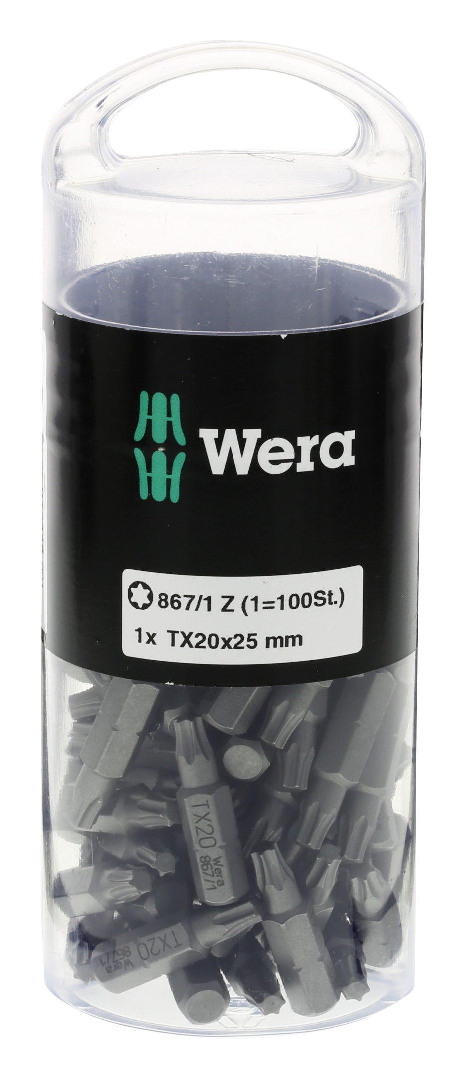 """Wera Bit 1//4/"""" DIN3126 E6,3 5,5 x 1 x 89 mm zähhart"""