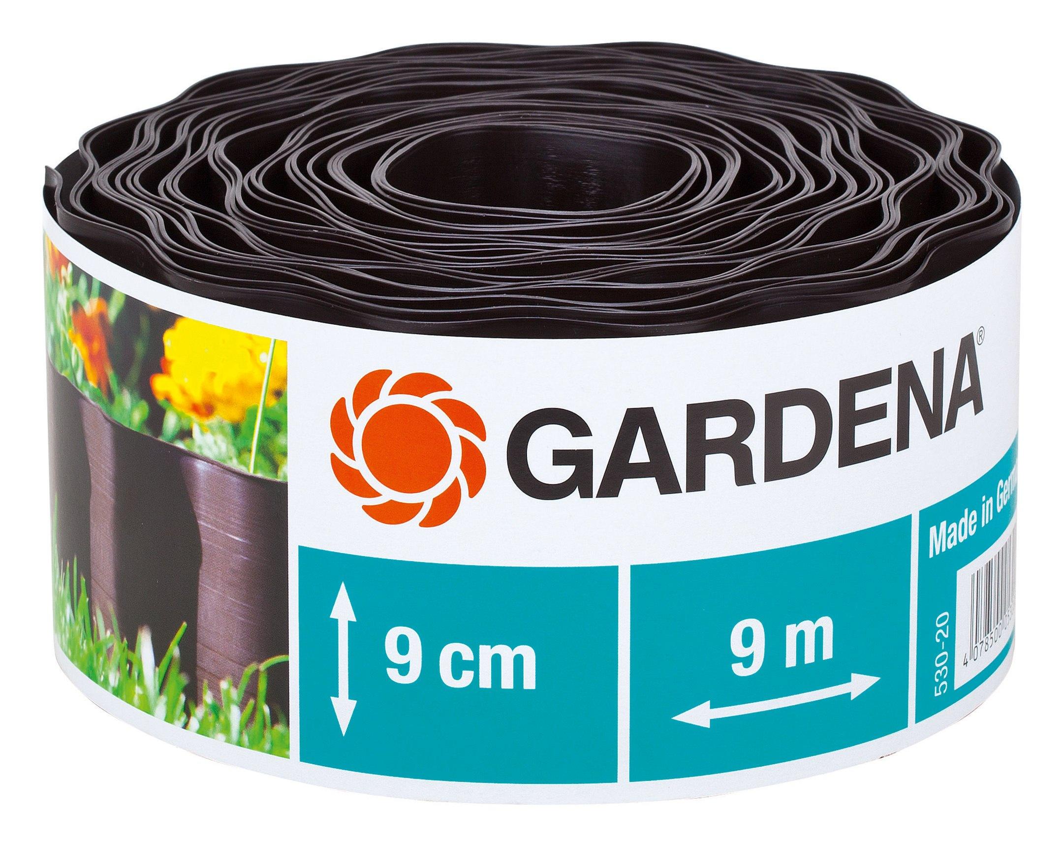 Gardena Beeteinfassung braun 9 cm hoch x 9 m lang - 00530-20