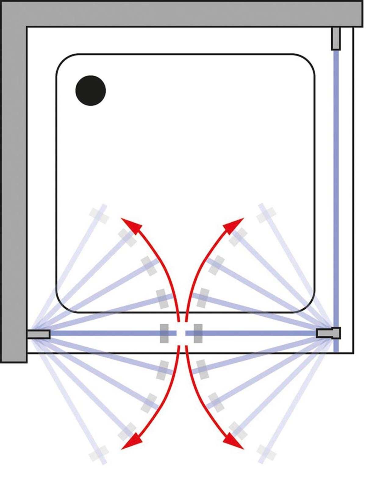 schulte davita pendelt r 2 teilig mit seitenwand echtglas inkl aufma und montage d48024. Black Bedroom Furniture Sets. Home Design Ideas