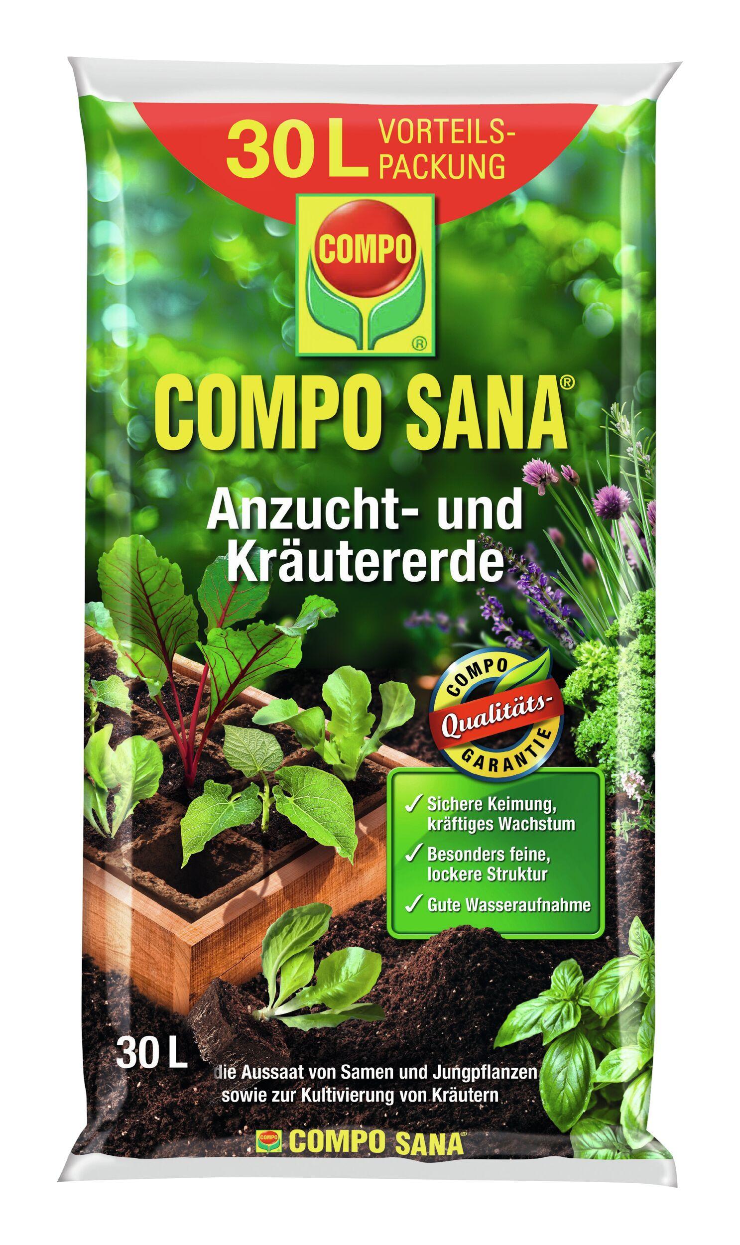 Compo Sana Anzucht-und Kräutererde 30 Liter - (30 Liter)