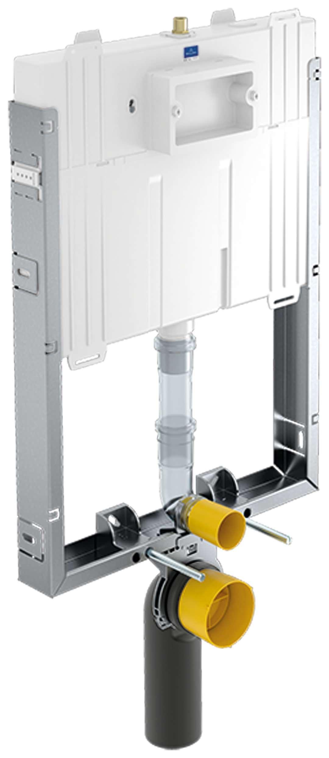 villeroy boch viconnect vorwandelement wc element compact f r nassbau bet tigung von vorne. Black Bedroom Furniture Sets. Home Design Ideas