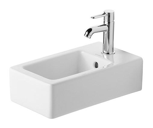 duravit vero handwaschbecken 250 x 450 mm mit hahnloch und berlauf wei 0702250000. Black Bedroom Furniture Sets. Home Design Ideas
