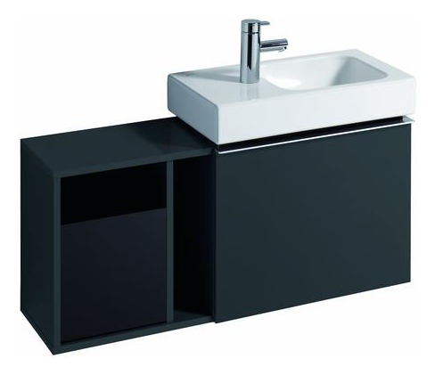 keramag icon xs waschtisch ablagefl che links 530mm x 310mm wei alpin keratect 124153600. Black Bedroom Furniture Sets. Home Design Ideas