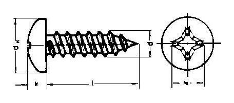 Blechschraube DIN 7981-C 4,2x 19 A2 E-NORMpro