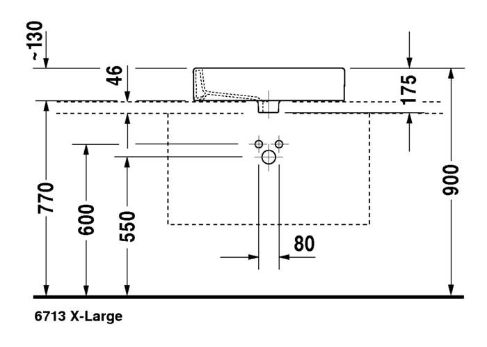 duravit vero aufsatzwaschtisch 595 x 465 mm geschliffen mit hahnloch und berlauf wei. Black Bedroom Furniture Sets. Home Design Ideas