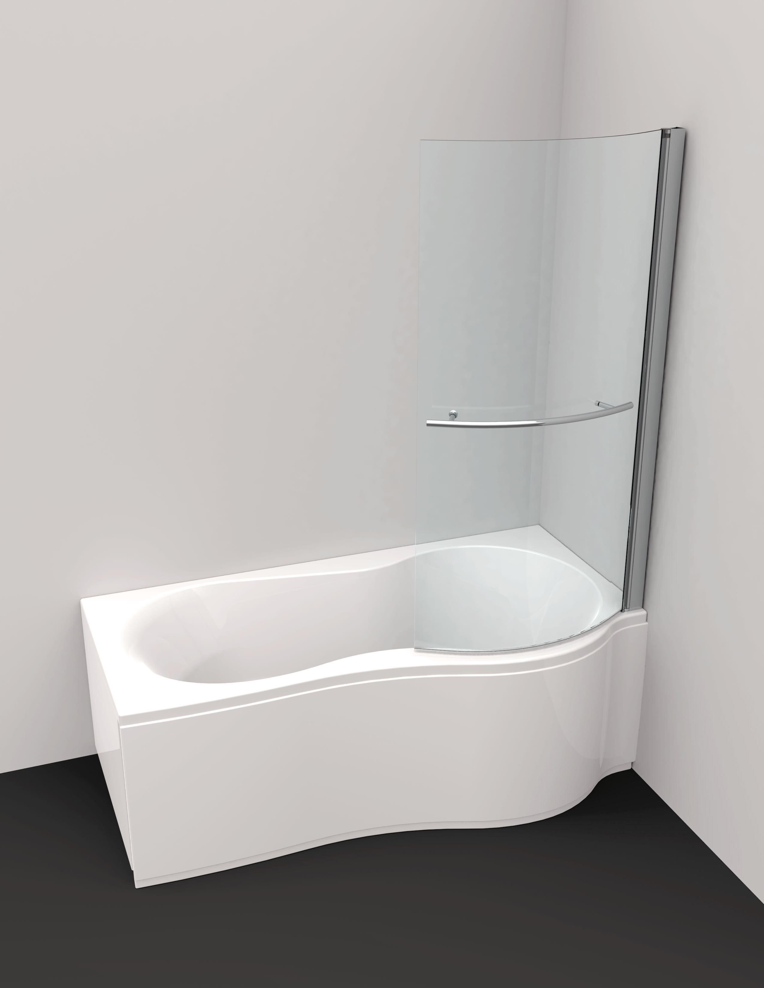 Badewanne mit duschzone 180  Chr. Schröder Flora Badewannenduschabtrennung rechts - 6100168