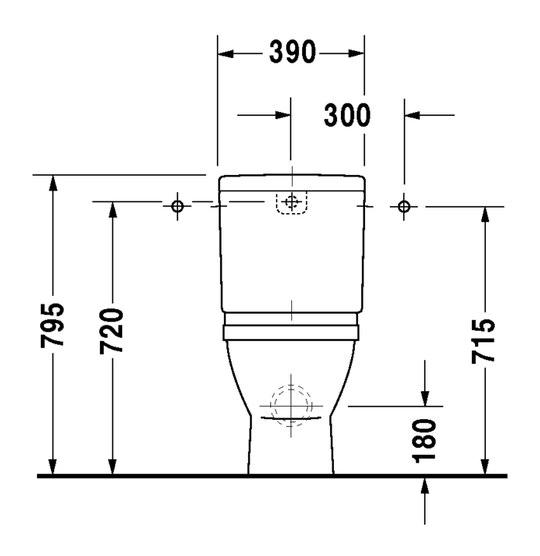 duravit starck 3 stand wc kombination 360 x 655 mm tiefsp ler mit abgang waagrecht f r. Black Bedroom Furniture Sets. Home Design Ideas