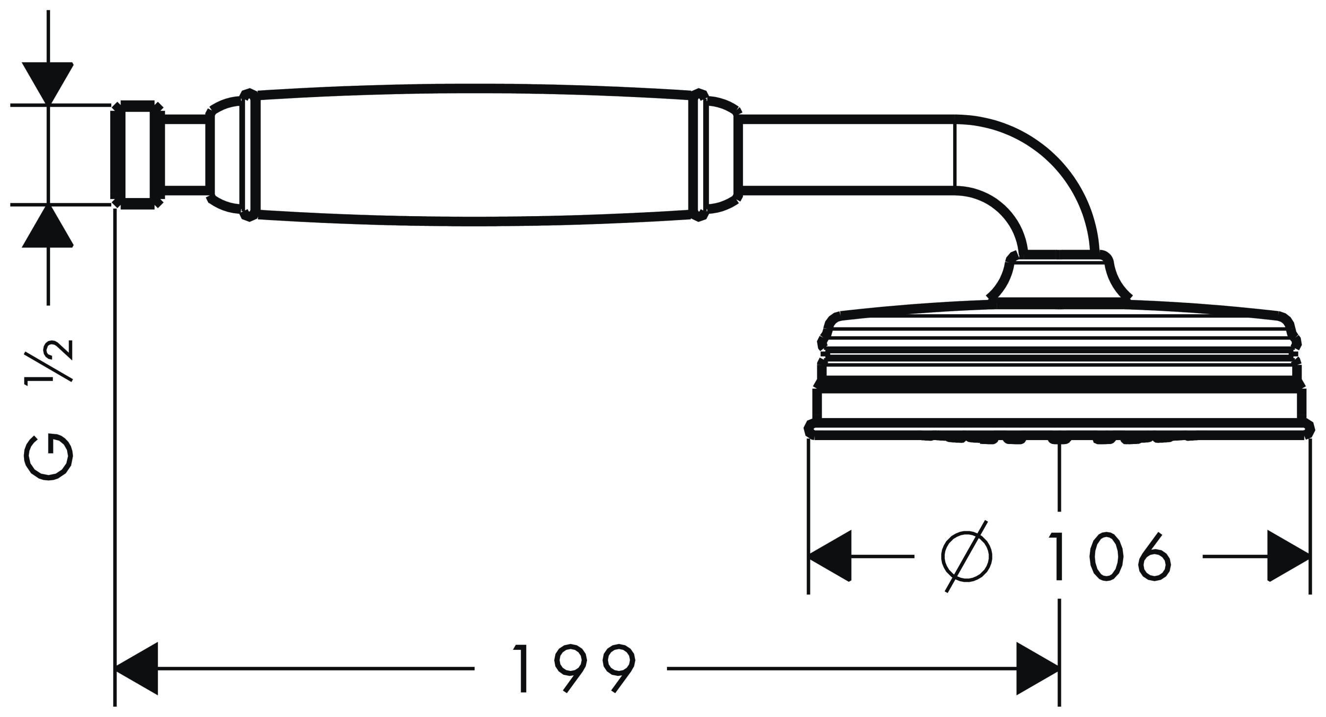 hansgrohe axor montreux handbrause brushed nickel 16320820. Black Bedroom Furniture Sets. Home Design Ideas