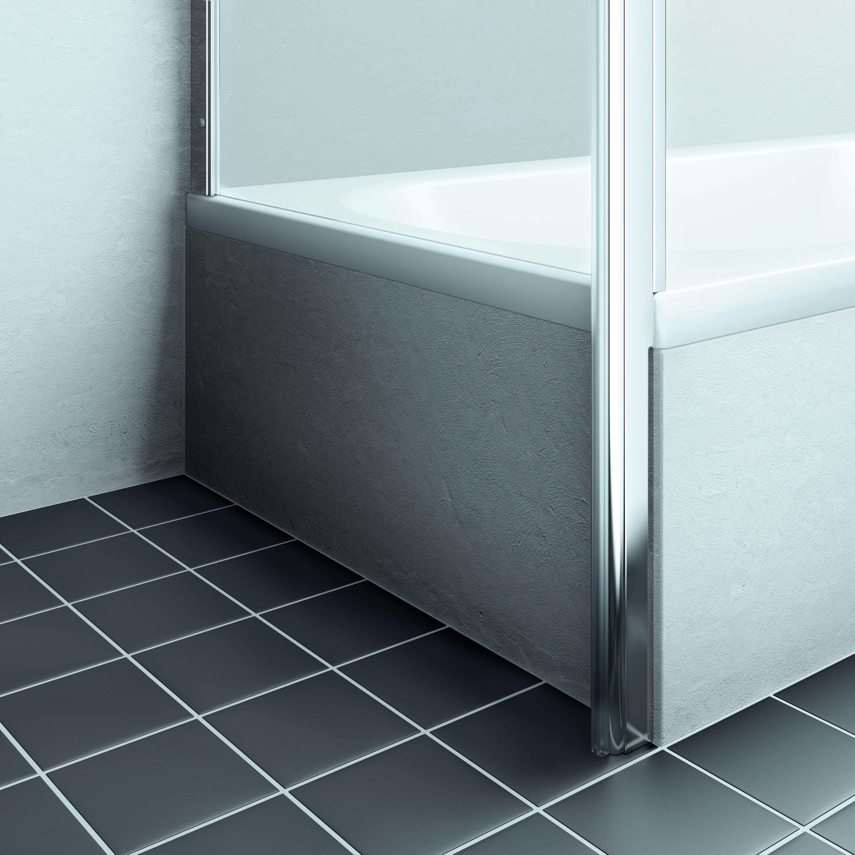 kermi liga seitenwand verk rzt f r badewannenmontage klarglas hell silber mattglanz 80cm x 160cm. Black Bedroom Furniture Sets. Home Design Ideas