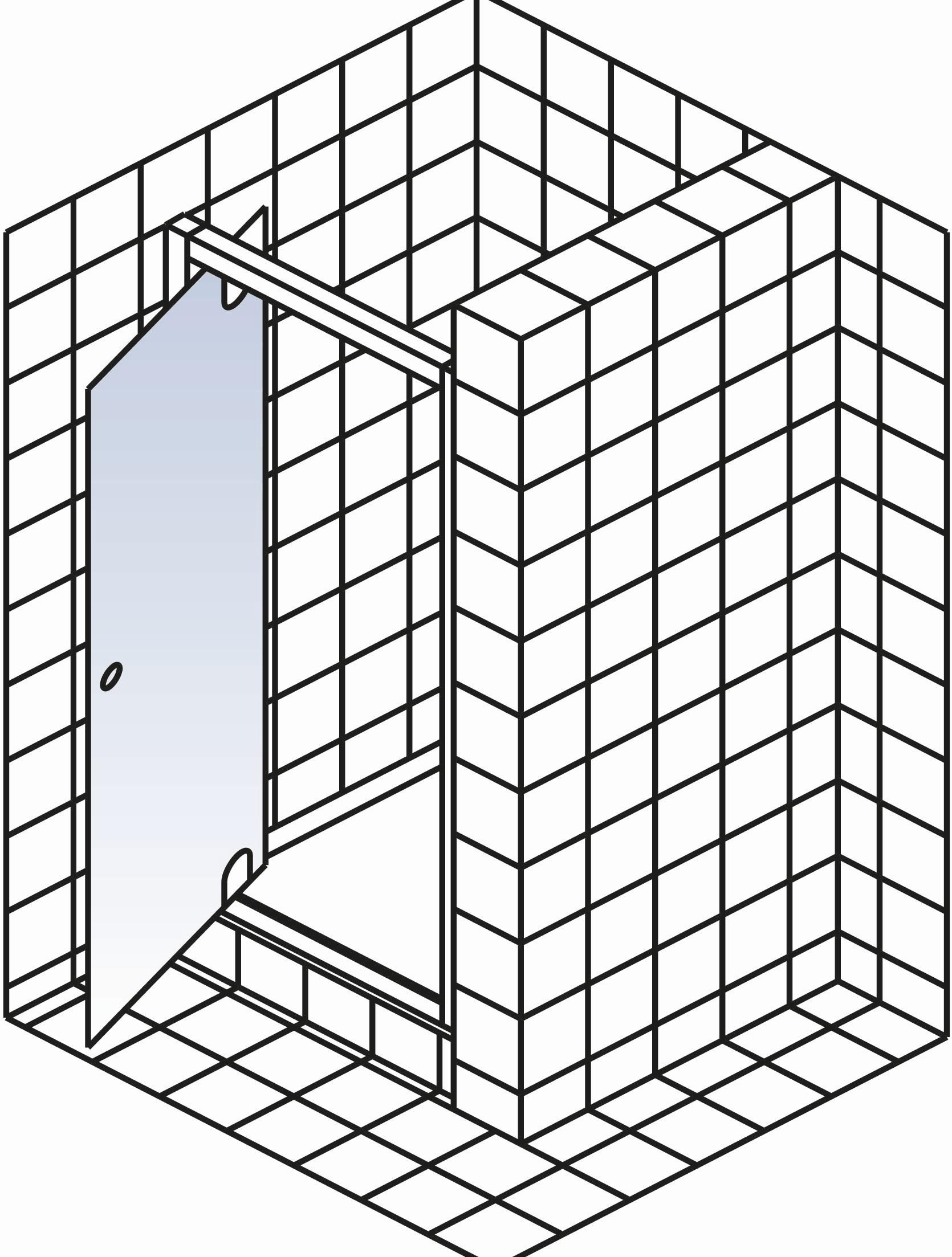 schulte kristall trend dreht r in nische sonderma d010099. Black Bedroom Furniture Sets. Home Design Ideas