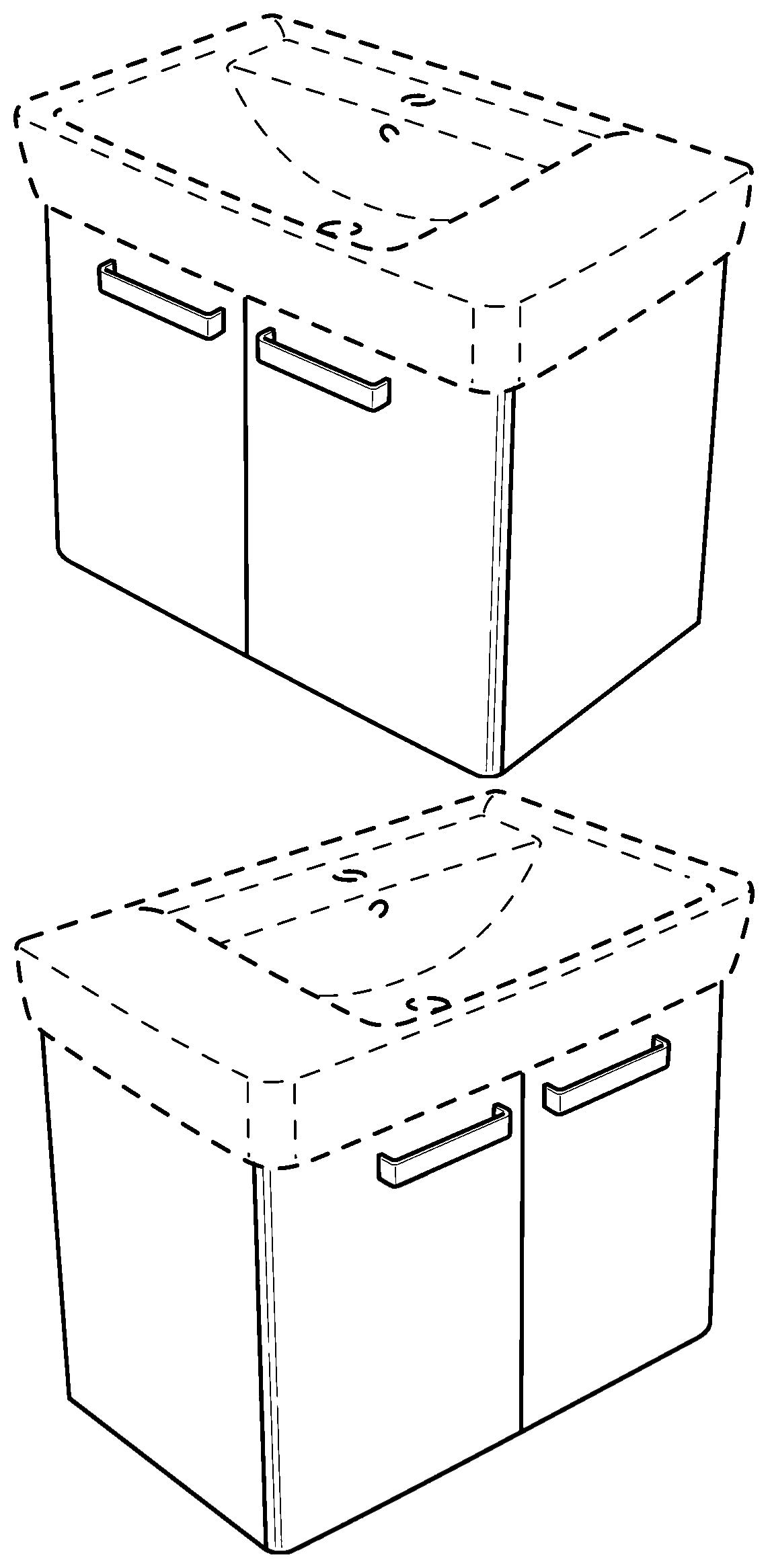 keramag renova nr 1 plan waschtischunterschrank 879140 670x463x445 mm korpus wei front. Black Bedroom Furniture Sets. Home Design Ideas