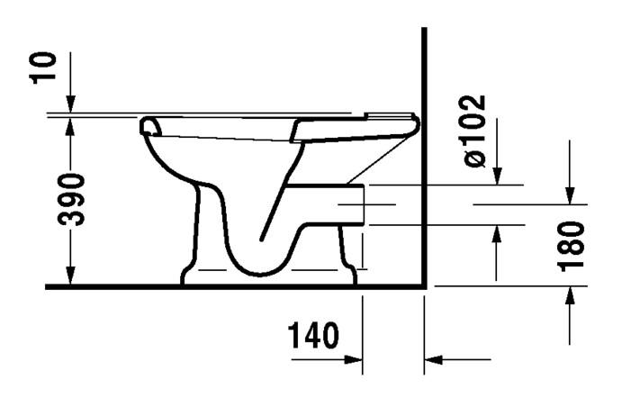 duravit 1930 stand wc kombination 355 x 665 mm tiefsp ler mit abgang waagrecht f r sp lkasten. Black Bedroom Furniture Sets. Home Design Ideas